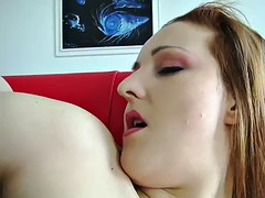 Sanna is stuffing her tight twat with a toy
