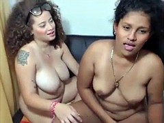 Horny lesbians fingering , kissing and licking