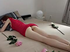 Amateur, Masturbation, Rousse roux, Russe, Adolescente