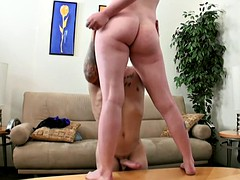 Dicksucking babe doggystyled by midget agent