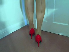 Red Stilettos White Knickers