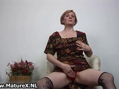 Dirty mature housewife is getting naked