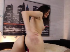 Hottie Tiny-Boobed Camgirl Hot Webcam Show