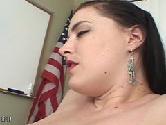 Her First Older Woman - Horny Older Boss Seduces Busty Dark Haired Chick