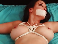 J Nude Spread Bound and Gagged