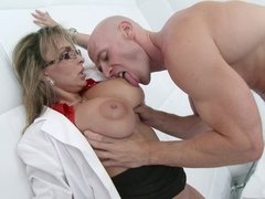 A sexy nurse that has a big ass and nice tits is getting fucked