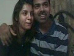 Indian couple on online camera