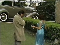 Vintage porn flick with magnificent retro stunner