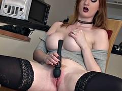 Redhead Masturbation SexFlush and Pulsating Orgasm