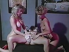 Anal, Groupe, Lesbienne, Fessée, Strapon