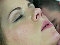 MOM Short haired babe sucks her lovers fat dick before anal