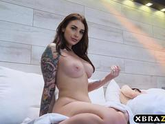 Busty wife cheats on her boring husband during the honeymoon