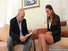 Boss calls in his secretary for a tiny dictation his way