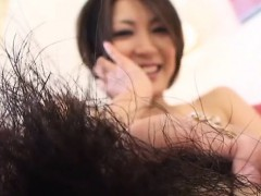 Asiatique, Poilue, Japonaise, Masturbation, Solo