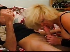 granny slut in jeans getting assfucked