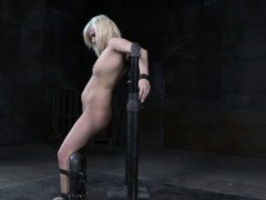 Bound bdsm sub whipped and punished