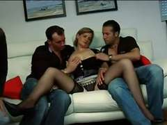 FRENCH MATURE 24 anal invasion mature mother mummy four dudes dual pen