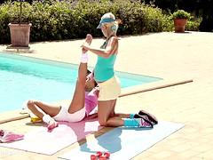 Sporty Sirens by Sapphic Erotica  lesbian love porn with Devin  Iris