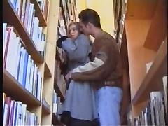Library gang-bang.