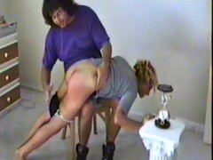 getting her cute ass spanked