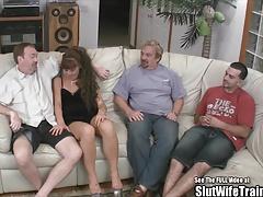 茶髪の, グループ, Hd, ヤリマン, オッパイの, 妻