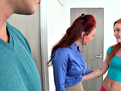 Janet Mason and Alex Tanner crazy 3some