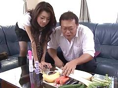 Sayuri Shiraishi Filled with Veggies n Dick (Uncensored JAV)