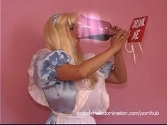 Stacked blonde filly reenacts her fantasy with a dude wearing a costume