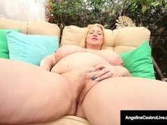 Angelina Castro in a Lesbian dildo war with Maggie & Sam38G!