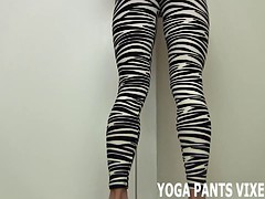Are my sexy new zebra print yoga pants getting you hard JOI