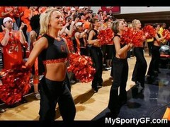 Smoking hot college cheerleaders in uniform posing for perverts These positively northern american teenage bitches adore to show honey pot and booty o