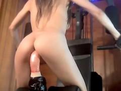 Anal, Cul, Brunette brune, Masturbation, Solo, Adolescente, Jouets, Webcam