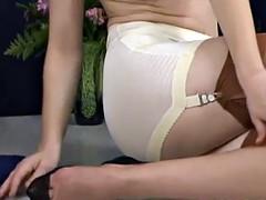 Justine Joli - Classic Girdle And Stockings