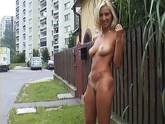 Nude picture session on the street