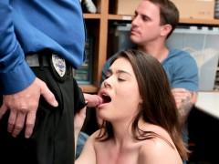 Boyfriend has no mercy for his shoplifting girlfriend