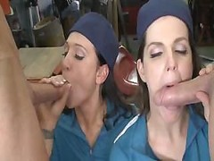 Bobbi Starr & Alexis malone give a duo lads some nice hot making love