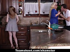 BadMILFS - Step-Daughter Shares Cock With Busty Milf