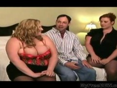 Sexy Bbw Cougars Take On Lucky Lad Bbw obese bbbw sbbw bbws huge