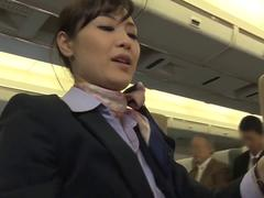 These horny passengers are gonna bang hot stewardesses