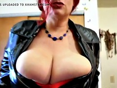 Big stacked Redhead with crusher tits