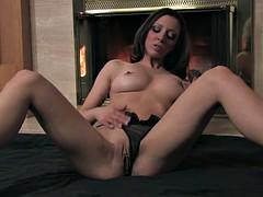 Sexy beauty rubs her twat