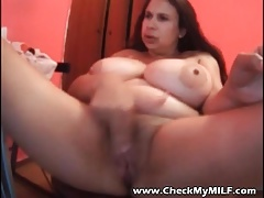 Check My MILF Busty BBW mature with toys