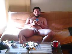 Bearded guy with dildo