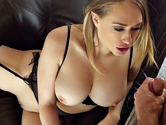 PUREMATURE Housewife Kagney Linn Karter welcome home fuck