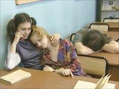 レズビアン, 赤毛, ロシア人, 教師