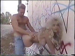 Busty Blonde GF with Natural Tits fucked near railway tracks