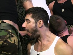 British military hunks group fuck and suck