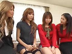 Pretty Far eastern transsexuals group fucking