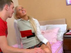 Babe in shoes anal banged on the sofa by her unique boyfriend