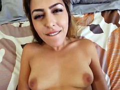 Horny brunette babe Audrey Royal fucking her stepbrother
